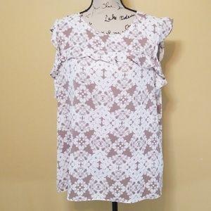 Worthington xl blouse euc